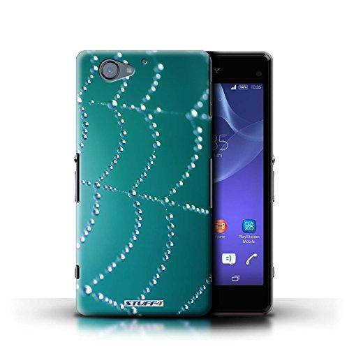 Kobalt® Imprimé Etui / Coque pour Sony Xperia A2 / Orange conception / Série Toile d'araignée Perles Turquoise