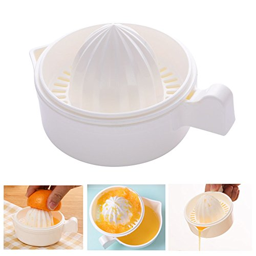 Lemon Sieb, manuelle Entsafter Citrus Orange Lime Fruit Hand Squeezer mit Schale für Home Bar Küche kunststoff - Entsafter Handliche