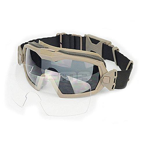 ATAIRSOFT Ventilateur Refroidisseur Version Régulateur Lunettes de Sport Lunettes de Protection pour vélo Cyclisme Conduite Tactique pour Airsoft/Paintball Ski/Snowboard DE