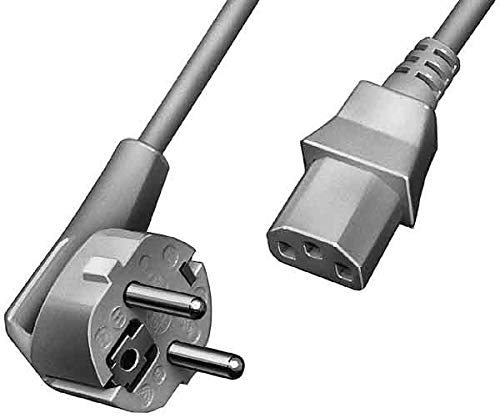 APSA-Power Cord 1450/2,5m GR | Netzkabel für Kaltgeräte 2,5 m| Stromkabel für PC,Monitor, PC Computer,Drucker,PS3/PS4 PRO, angespritzte Schutzkontakt Stecker,3 polig | Kaltgerätekabel |Grau|L-Type|