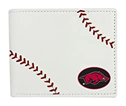 NCAA Arkansas Razorbacks Leather Wallet, White