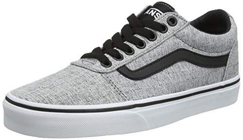 Vans Herren Ward Canvas' Sneaker, Grau (Textile) Gray/White Qoq, 44 EU
