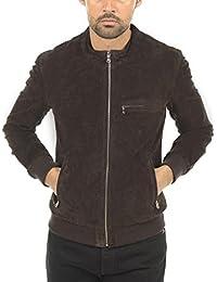 Arturo-Cazadora piel sintética, diseño con aspecto de piel para hombre Arturo brady, color marrón
