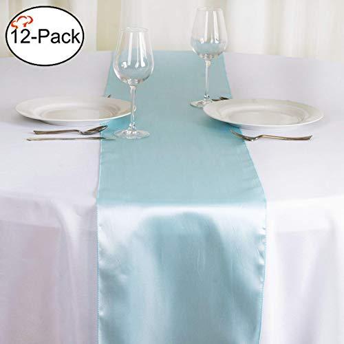 Tiger Chef 30,5x 274,3cm Long Satin Tischläufer für Hochzeit, Tischläufer, Fit Rectange und rund Tischdekorationen für Geburtstag Partys, Bankette, Graduierung, Verlobung, Satin, blau, Large (Royal Blue-baby-dusche Dekorationen)