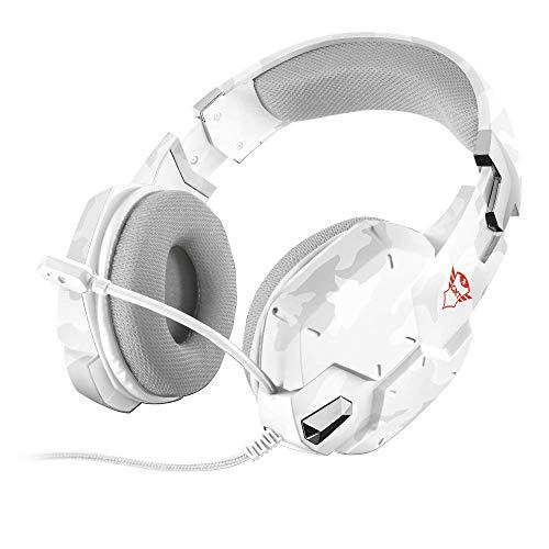 Trust GXT 322W Gaming Headset/Kopfhörer (mit flexiblem Mikrofon, für PS4, Xbox One und PC) weiß camouflage