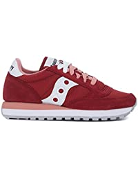 Sneaker Saucony Jazz in suede e mesh rosso