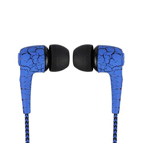 Huihong 3.5mm Super Bass KopfhöRer OhrhöRer In-Ear-Headset Mit Mikrofon FüR Handy Mp3 (Blau)