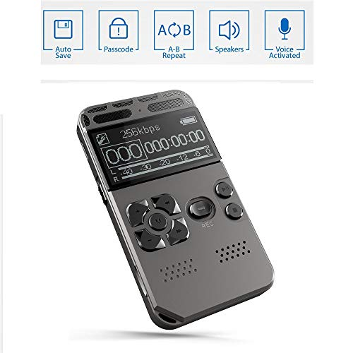WMWHALE Digital Voice Recorder, 8GB große Kapazität One-Button Record Noise Reducation Dictaphone USB Wiederaufladbarer Recorder für Meeting Vortrag One-button-record