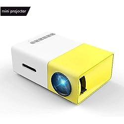 Vidéoprojecteur, Meer Mini Pico Portable LED LCD Projecteur Théâtre avec Entrée USB/SD/AV/HDMI pour Ordinateur, Ordinateurs Portables, PC, USB Disk,TV,de Film et de Jeu Vidéo, Camping