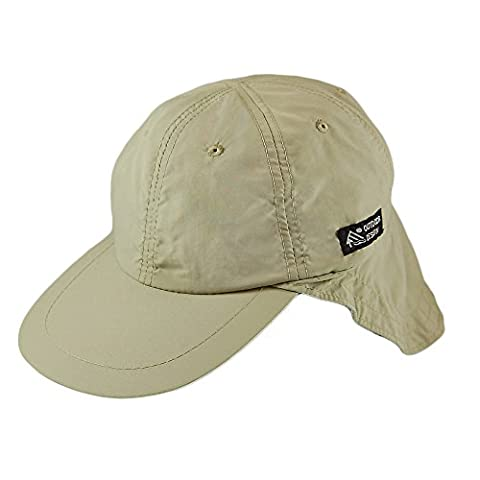 Dorfman-Pacific Supplex Flap Cap - Khaki - One