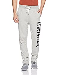 Aeropostale Mens Slim Fit Sweatpants (AE9006890052_Light Heather Grey_32)