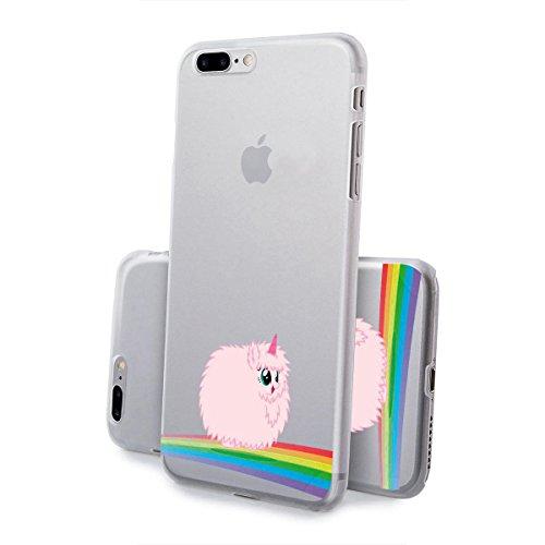 finoo | iPhone 6 Plus / 6S Plus Hard Case Handy-Hülle mit Motiv | dünne stoßfeste Schutz-Cover Tasche in Premium Qualität | Premium Case für Dein Smartphone| Einhorn flauschig Einhorn flauschig
