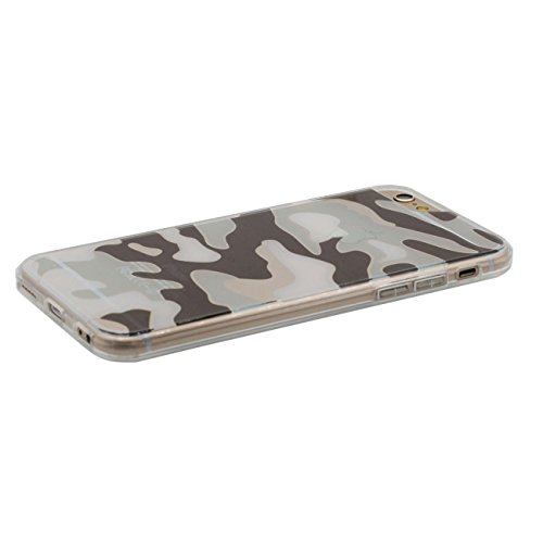 iPhone 7 Coque de Protection, Camouflage Serie Transparent Flexible TPU Plastique Diverses couleurs Mince Poids léger Housse de protection Case Cover pour Apple iPhone 7 4.7 inch blanc