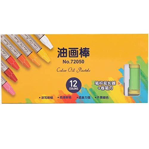 Kostüm Buntstifte Färbung - 36 farben wachs caryon set für schulkinder kreative zeichnung graffiti zeichnung färbung öl pastell kreide kunst versorgung beste stift geschenk, 12 farbe