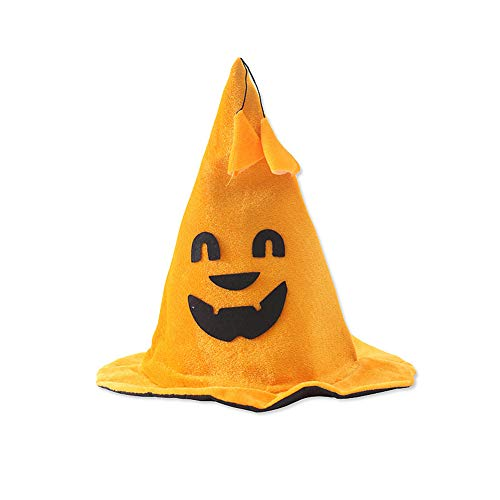 Für Stücke Erwachsenen Dress Kostüm - LTSWEET DREI Stücke Kürbis Hut Halloween Hexenhut Erwachsene Kinder Fancy Dress Costume Kopfbedeckungen Karneval Cosplay Kostüm Zubehör Fasching Verkleiden,C