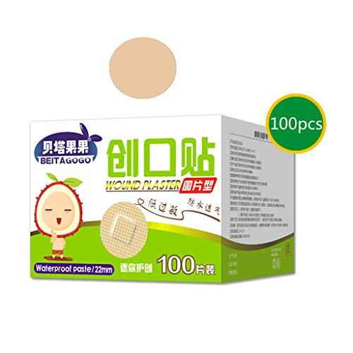 Topische Wundversorgung (Longsw 100PCS Ultra -Thin Emergency First Aid Bandage Breathable First Aid Kit Waterproof Bandage Stickers Adhesive Wound Medical)