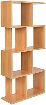 ts-ideenEstantería librero estante de CD almacenamiento madera naural diseño moderno