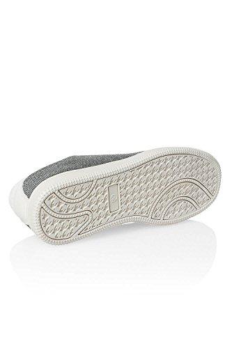 Only Damen Sneaker im Glitzer-Look Low-Top Skater Gunmetal/Glitter