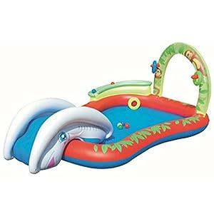 Thole Piscine per Bambini Gomma con Scivolo Gonfiabili Grandi Risparmio Casa Rettangolari Toys 109.8