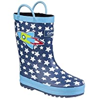 Cotswold Sprinkle Boys Synthetic Material Wellies Dark Blue & White - UK Size 8.5 (EU 26)