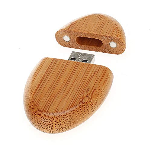 Price comparison product image Yaoaomon Wood Usb Pen Drive Oval-shaped Flash Drive Durable U Disk For Wedding Gift wood color