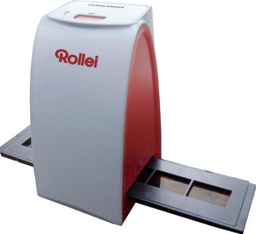 Rollei DF-S 50 (5 Megapixel Dia/Negativscanner, 1800 DPI, 48-Bit Farbtiefe, One Button Scanfunktion, inkl. 1 Schlitten für Farbnegative und 1 Schlitten für Dias, Reinigungsbürste und USB-Kabel)