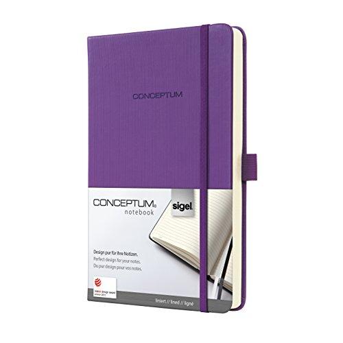 h, ca. A5, liniert, Hardcover, violett, CONCEPTUM - weitere Farben und Größen auswählbar ()