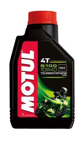 Motul 104066Huile de moteur à 4temps pour moto, 10W/40(en partie synth.), 1 pièce pas cher