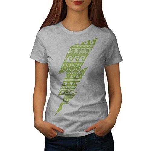 46b97b1107bb Blinken Schild Aztects Geek Damen S2XL Tshirt Wellcoda Grey
