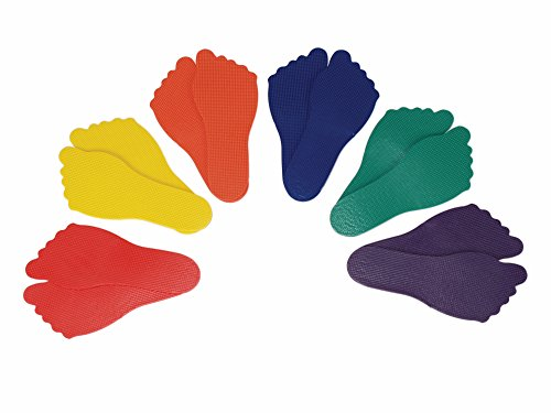 American Educational Fußmarker, Polyvinyl, verschiedene Farben, 6 Paar