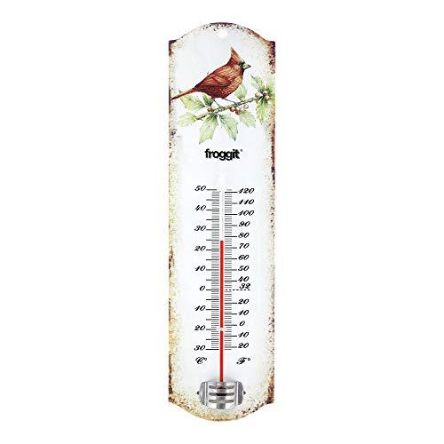 Froggit Vintage lamiera Termometro Termometro esterno giardino con uccelli motivo