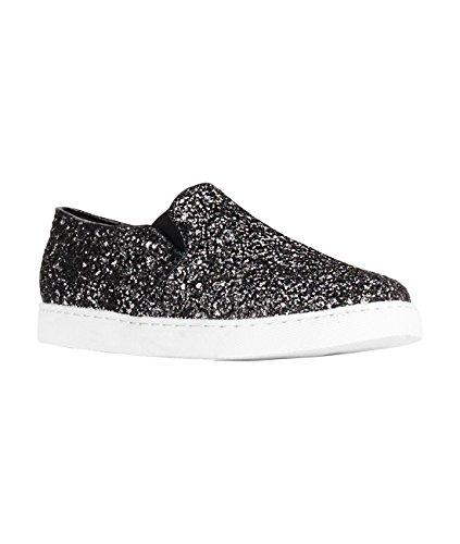 KRISP® Femmes Baskets Mode Paillettes Sneakers Tendance Noir (4508)