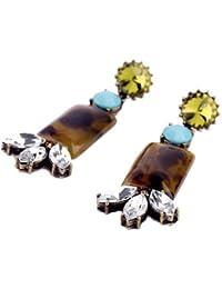SEXYHER Funkelnde Damen Retro Flower-Ohrringe mit Edelstein-und Kristall Zum Frauen SHWM130809E005