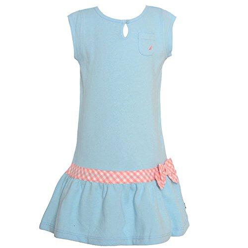 nautica-baby-girls-blue-key-hole-checker-bow-detail-drop-waist-dress-12m