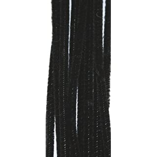 100 Black Pipe Cleaners 300mm x 4mm