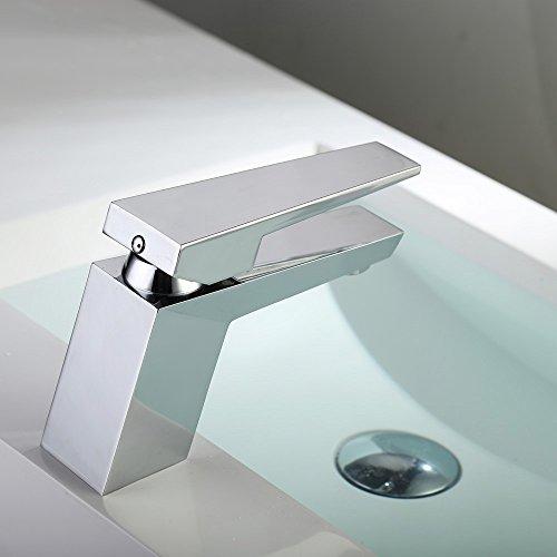 Homelody – Moderne Design-Waschtischarmatur, Einhebelarmatur, Keramikkartusche, Perlator, Chrom - 2