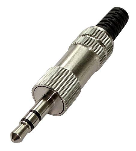 AERZETIX: 2x fiche connecteur Jack 3.5mm stéréo mâle à souder C19502