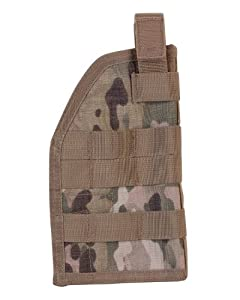Airsoft Kombat Universal Molle Holster Right Handed Multicam