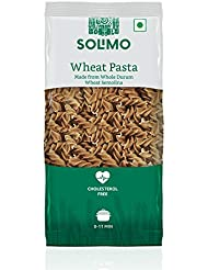 Amazon Brand - Solimo Whole Durum Wheat Fusilli Pasta, 500g