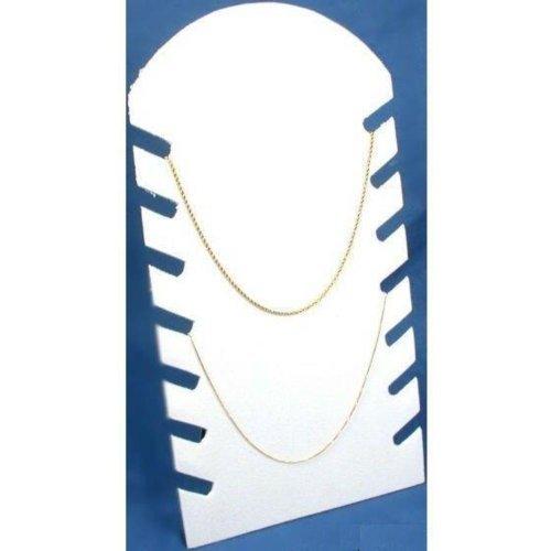 Findingking Display collana catena gioielli bianco floccato Showcase - Floccato Collana