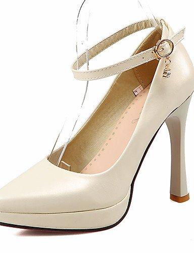 WSS 2016 Chaussures Femme-Bureau & Travail / Décontracté-Bleu / Rose / Beige-Talon Aiguille-Talons / A Plateau / Confort / Bout Pointu-Talons- beige-us6.5-7 / eu37 / uk4.5-5 / cn37