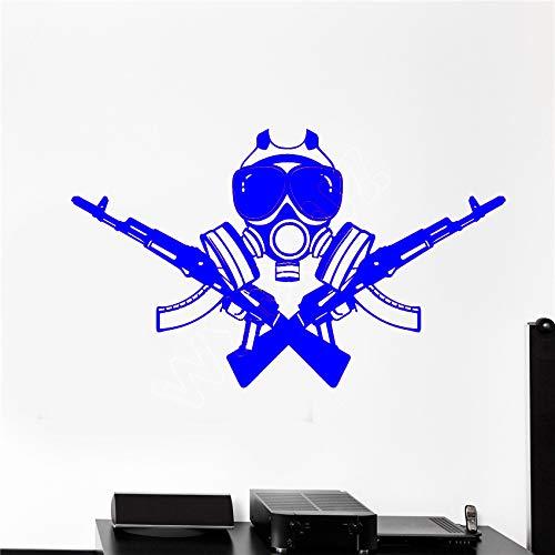 yaoxingfu Vinile Adesivo Fucile d'assalto Arma Soldato Militare Adesivo per Videogiochi Cucina Soggiorno Adesivo da Parete in Vinile WW-3 75x126cm