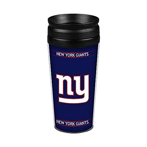NFL New York Giants Full Wrap Travel Tumbler, 14-Ounce, Blue