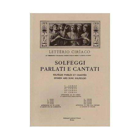 Laiterie Ciriaco Solfeggati Seiten und Cantati I Corso