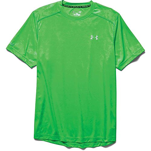 Under Armour, Maglia da running a maniche corte Uomo Green Energy / Green Energy / Reflective