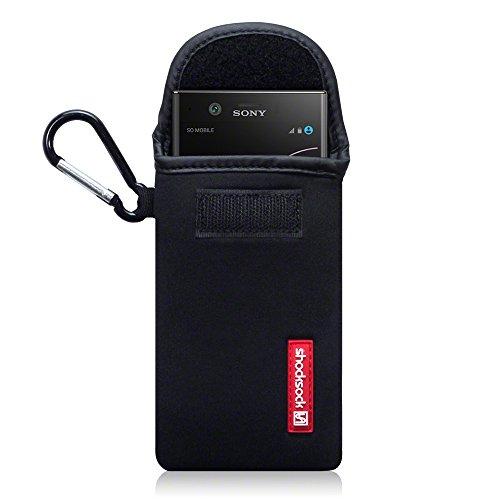 Sony Xperia XZ1 Compact Funda de Neopreno, sistema de cierre con velcro - Negro