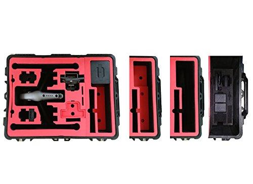 Professioneller Transportkoffer für DJI Inspire 2 - Landing Mode - Platz fuer X4S/X5S - 20 Batterien, Objektive, Deckel im Peli 1630 Koffer von MC-CASES - 6