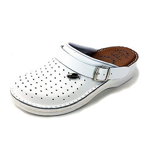 Dr Punto Rosso BRIL D130 Zoccoli Sabot Pantofole Scarpe Pelle Donna