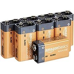AmazonBasics Lot de 8piles alcalines 9V 600 mAh