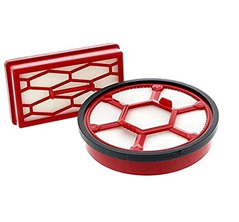 Dirt Devil 2200001 Kit de 2 Filtres pour Aspirateur sans Sac Rebel 20